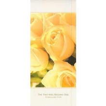Pkg./100. Bulletin-:W-Yellow Rose-Tri Fold-Eph 5:31. Save 50%.