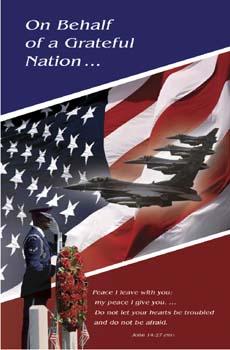 Pkg./100 Air Force Funeral Bulletins. Save 50%.