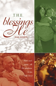 Pkg./100 Blessings He Has Given Bulletins. Save 50%.