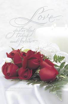 Pkg./100 Red Roses Bulletins. Save 50%.
