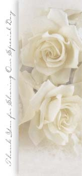 Pkg./100 White Rose Tea Length Bulletins. Save 50%.