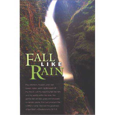 "Fall Like Rain Bulletins. Large (8 1/2""x14"") (pkg.100).  Save 50%."
