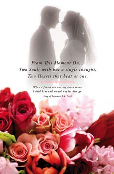 From This Moment On Wedding Bulletins. Pkg./100. Save 50%.