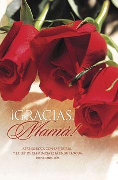 Pkg./100 Spanish Bulletins-Gracias Mama.  Save 50%.