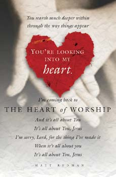 Pkg./100 Heart of Worship Bulletins. Save 50%.