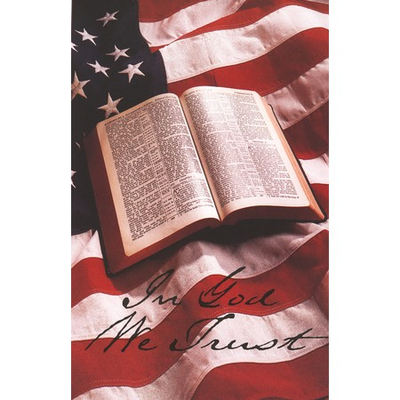 Patriotic In God We Trust Bulletins (pkg.100).  Save 50%.
