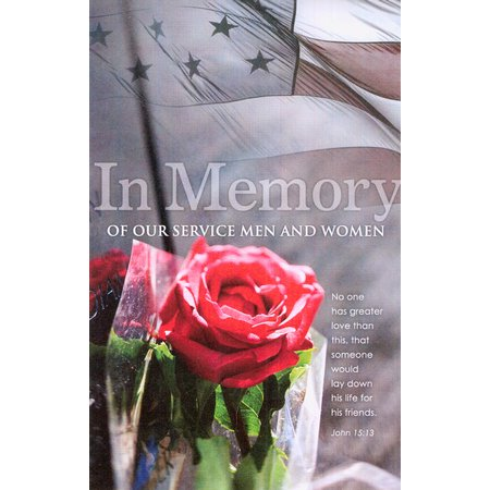 In Memory of Service Bulletins (pkg.100).  Save 50%.