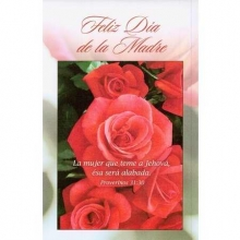 Spanish Happy Mother's Day Bulletins (pkg.100).  Save 50%.