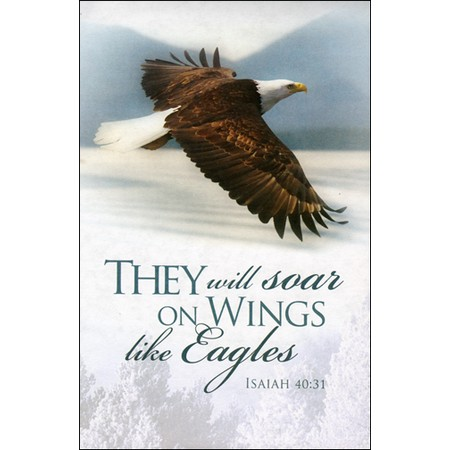 "Wings Like Eagles Bulletins. Large (8 1/2""x14"") (pkg.100).  Save 50%."