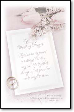 Our Wedding Prayer Bulletins. Pkg./100.  Save 50%.